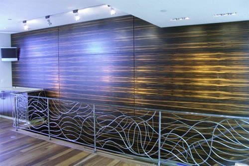 Macassar Ebony Wall Paneling